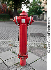 feuer, stadtstraße, hydrant, rotes