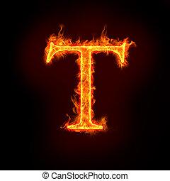 feuer, t, alphabete