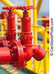feuer, ventil, sicherheit, installation