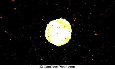 feuerball, explosion., hd, cg.