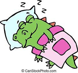 Blanket schl ft bed katz k tzchen eingeschlafen for Bett zeichnung