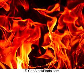 feuerflammen, feuer, von, hölle