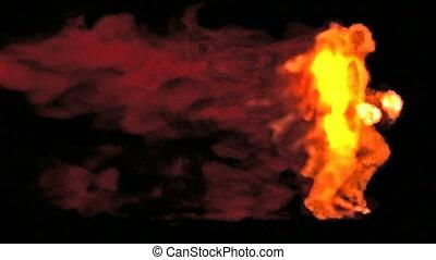 feuerflammen, rennender