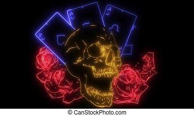 feuerhaken, animation, laser, karte, skulls.