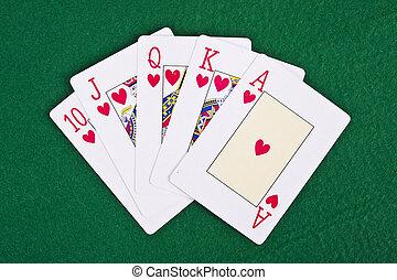 feuerhaken, gegenstände, wetten, kasinos, spiele, karten