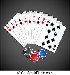 feuerhaken, spielen karte