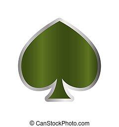 feuerhaken, symbol, kasino, grün, spaten, karte