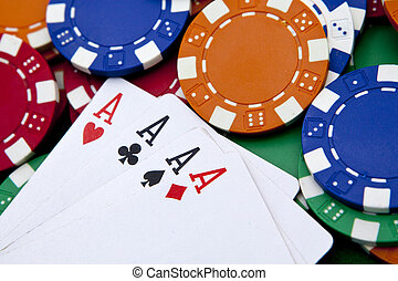feuerhaken, vier asse, aus, a, hintergrund, mit, kasino raspelt