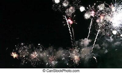 feuerwerk, bunte, feier
