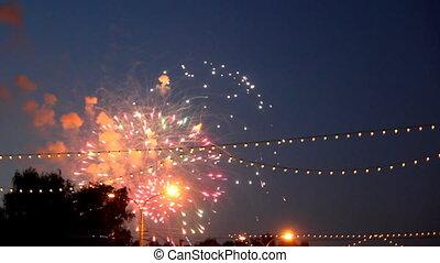 feuerwerk, feier