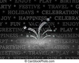 feuerwerk, feiertag, zimmer, concept:, dunkel, grunge