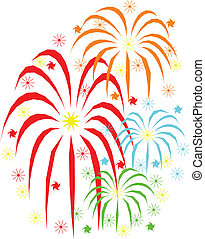 feuerwerk, feiertage, feier