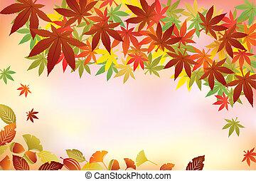 feuillage automne, fond