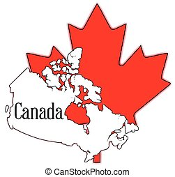 feuille, érable, canadien