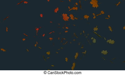 feuille, 4k, automne, fond, gris, tomber, contre