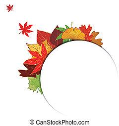 feuille automne, coloré, fond