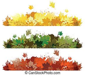 feuille automne, conception