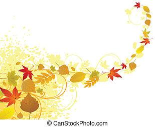 feuille automne, fond