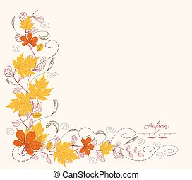 feuille automne, frontière