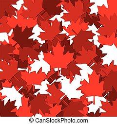 feuille, canadien, modèle, format., vecteur, disperser, érable