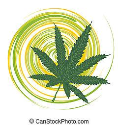 feuille cannabis