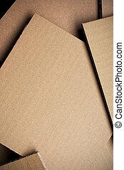 feuille, carton, ondulé, fond