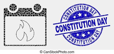 feuille, constitution, timbre, chaud, vecteur, pixelated, grunge, calendrier, jour, icône