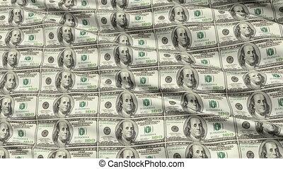 feuille, dollar américain, intégral