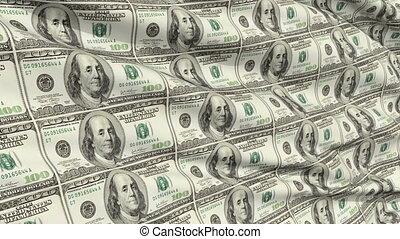 feuille, dollar, américain, intégral
