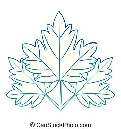 feuille, emblème, érable, icône