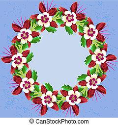 feuille, flower., isolated., printemps, botanique, floral, vecteur, sauvage, wildflower, lis