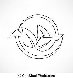 feuille, icône