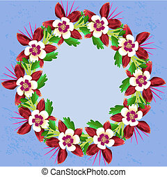 feuille, isolated., lis sauvage, flower., wildflower, floral, botanique, vecteur, printemps
