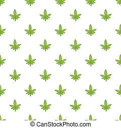 Modele Vecteur Feuille Marijuana Decoratif Fleur Elements