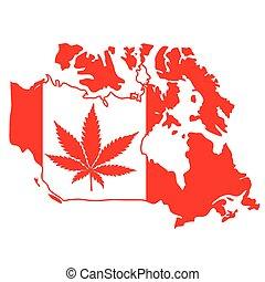 feuille, marijuana, signe