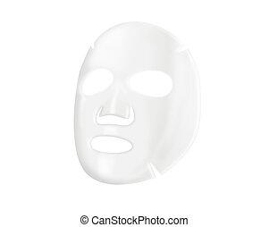 feuille, masque, facial