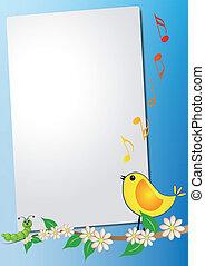 feuille, oiseau, chanson