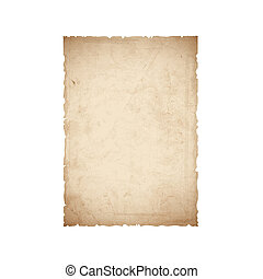 feuille, papier, vieux