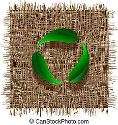 feuille, recyclez symbole