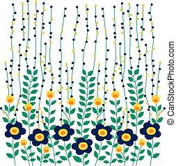 feuille, vecteur, conception, fleur, nature