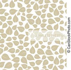 feuille, vecteur, pattern., seamless, illustration