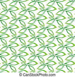 feuille verte, seamless, modèle fond