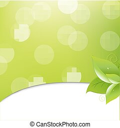 feuilles, écologie, arrière-plan vert