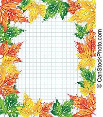 feuilles, érable, multi-coloré