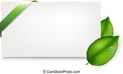 feuilles, étiquette, cadeau, vide