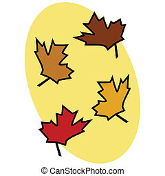 feuilles, 2, automne