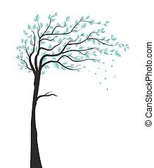 feuilles, arbre
