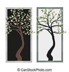feuilles, arbres