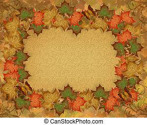 feuilles autome, automne, frontière