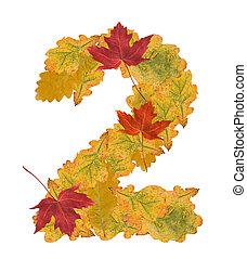 feuilles automne, 2, nombre